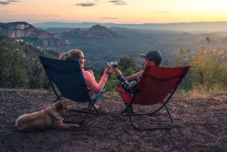 Camping Chairs at sunset